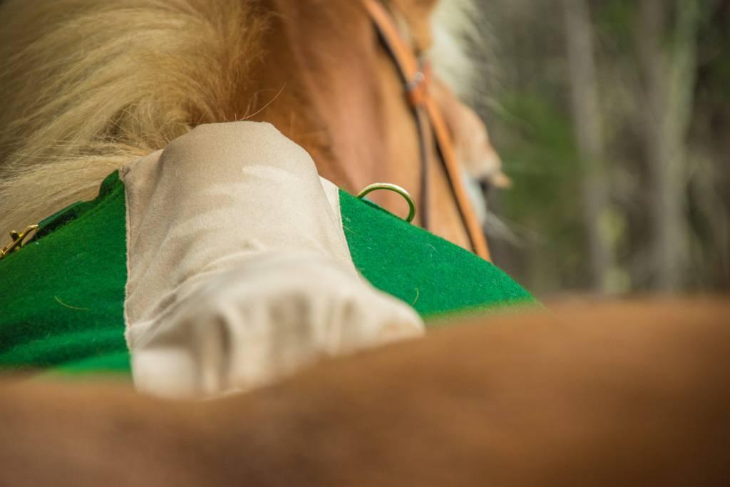 Hier am Bild deutlich erkennbar: Das beige Comfortpolster, das mich endlich schmaler hinsetzt. Foto: Haflinger Austria