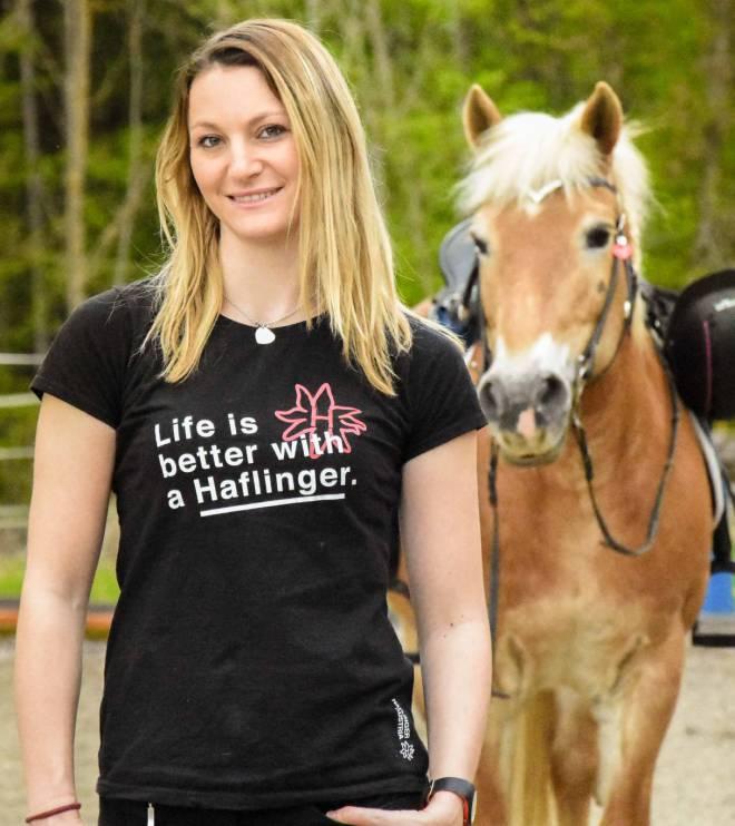 Haflinger Austria Shirt Life is better with a Haflinger. Foto: Haflinger Austria