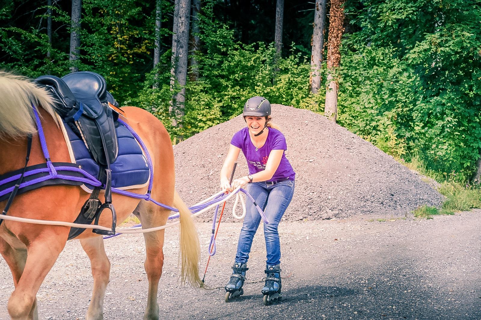 Wir rollen und es macht super viel Spaß! Foto: Haflinger Austria